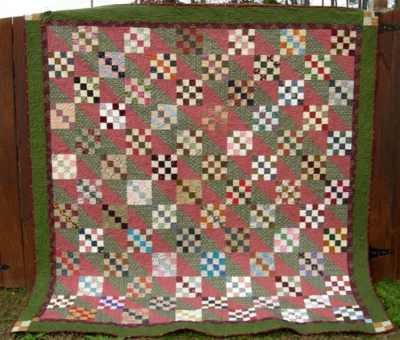 Quiltvilles Quips Snips Four Patch Furrows